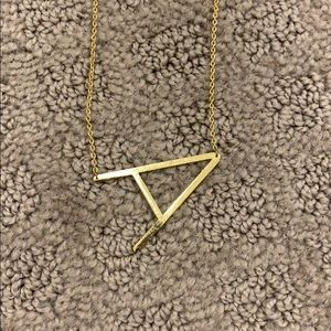 Anthropologie letter A necklace